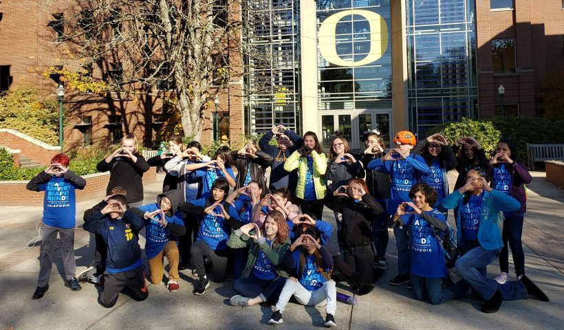 AVID students on U of Oregon campus